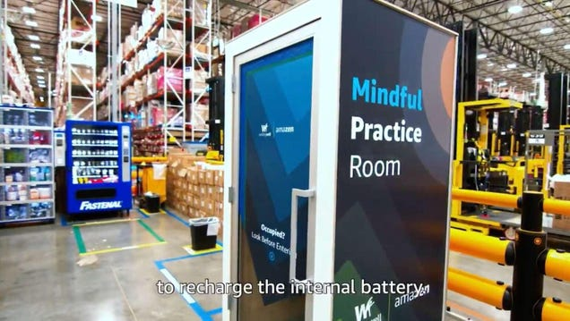 Amazon: Overworked Warehouse Employees Can Go Reflect in the Despair Closet