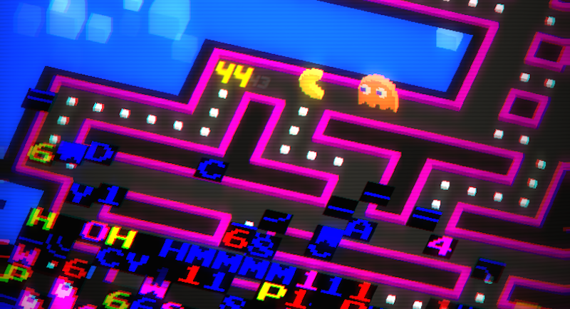Illustration for article titled Pac-Man 256 Is Endless Pac-Man With A Fun, Glitchy Twist