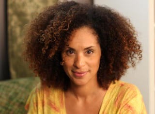 Karyn Parsons on the set of Mommy in Chief Courtesy of Karyn Parsons