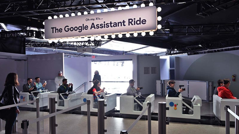 Illustration for article titled Google Is Blitzing CES with a Literal Rollercoaster Full of Google Assistant Tech