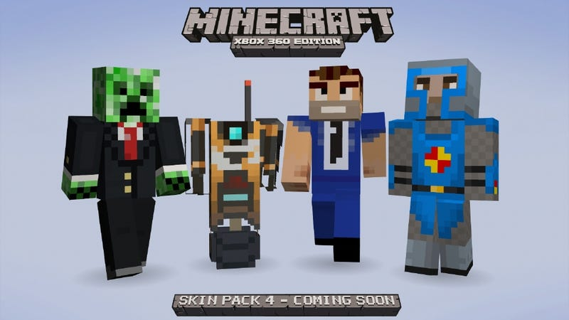 Illustration for article titled Borderlands, Assassin's Creed and Tons More Coming to Minecraft's Next Xbox 360 Skin Pack