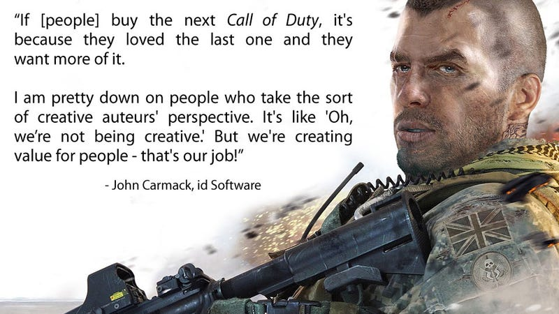 Illustration for article titled The Next Time You Slag Off Call of Duty, Bear This in Mind