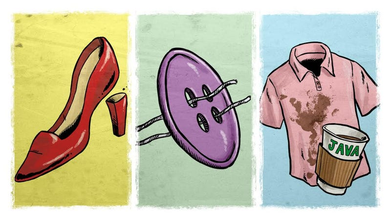 Illustration for article titled The Best Fixes for Common Clothing Mishaps When You're Out