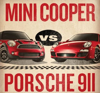 Illustration for article titled Mini Challenges Porsche To A Race, Porsche Considering It