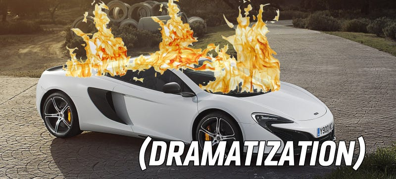 Illustration for article titled Hero Car Salesman Pulls Customer From Burning McLaren During Test Drive