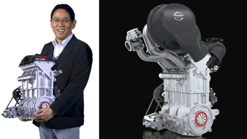 Illustration for article titled El nuevo motor de Nissan para Le Mans: 400 caballos en solo 39 kilos