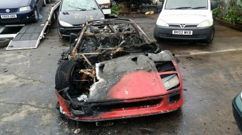 Illustration for article titled Ferrari F40 Burns To A Crisp On First Drive After Restoration
