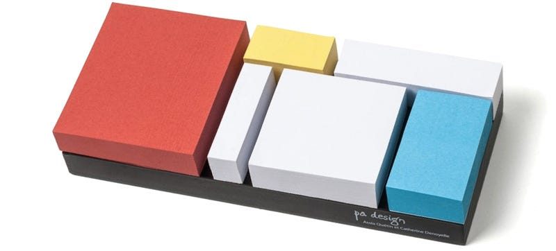 Illustration for article titled Mondrian Sticky Notes Make Every Reminder a Masterpiece
