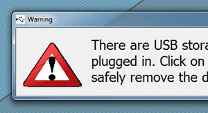 Illustration for article titled USB Alert Makes Sure You Never Leave Your USB Drive Behind Again