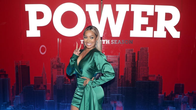 La La Anthony attends the Starz 'Power' The Fifth Season NYC Red Carpet Premiere Event & After Party on June 28, 2018 in New York City.