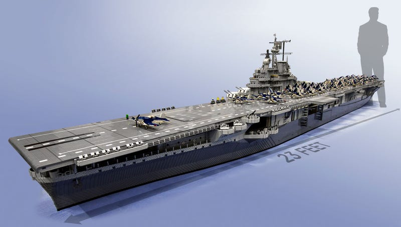 Largest Lego Ship Ever Built Is Bigger Than Three QueenSized Beds - Biggest lego ship