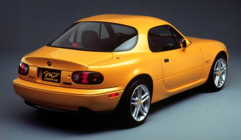 Illustration for article titled Sweet Merciful Crap: There Might Be A Mazda Miata Coupe On The Way