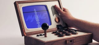 Illustration for article titled How Could You Not Lust Over this Portable Wooden Arcade Box?