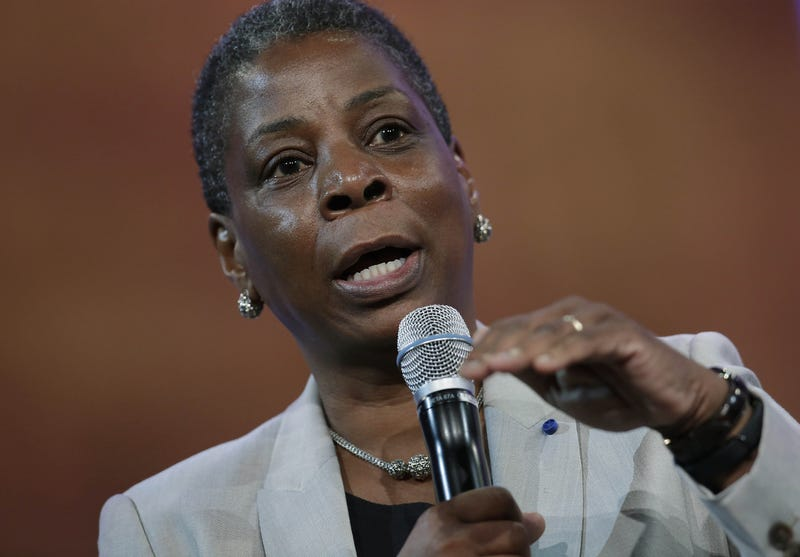 Xerox Corporation Chairman and Chief Executive Officer Ursula Burns speaks during the Clinton Global Initiative annual meeting September 29, 2015 in New York.       Joshua LOTT/AFP/Getty Images