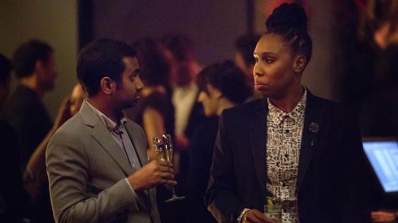 Aziz Ansari, Lena Waithe (Photo Credit: K.C. Bailey/Netflix)