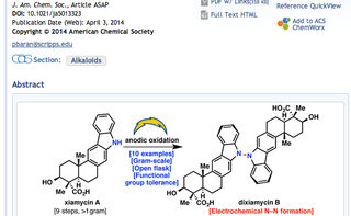 Illustration for article titled Chargers Logo Used To Spice Up Synthetic Chemistry Research