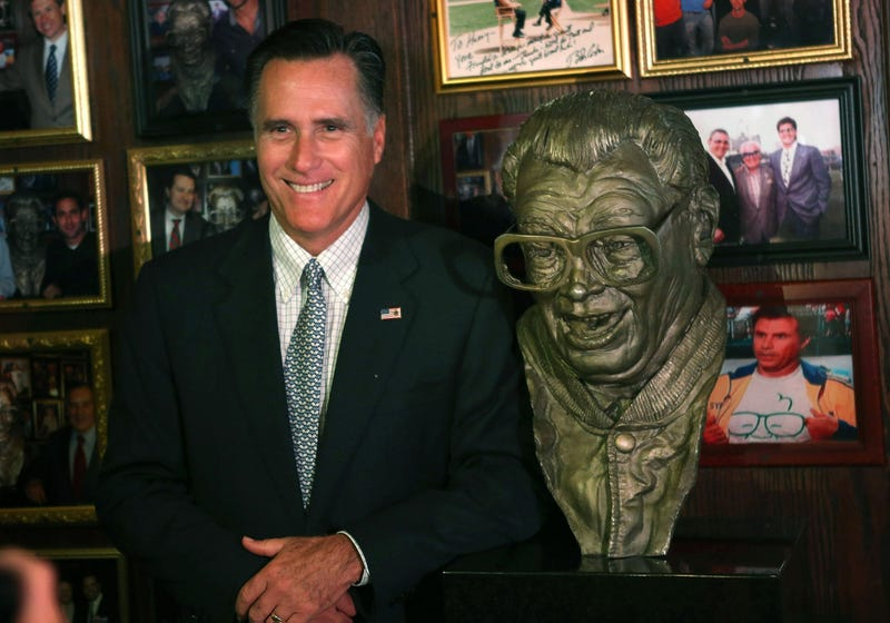 Illustration for article titled Mitt Romney Will Do Anything To Secure The Chicago Cubs Vote