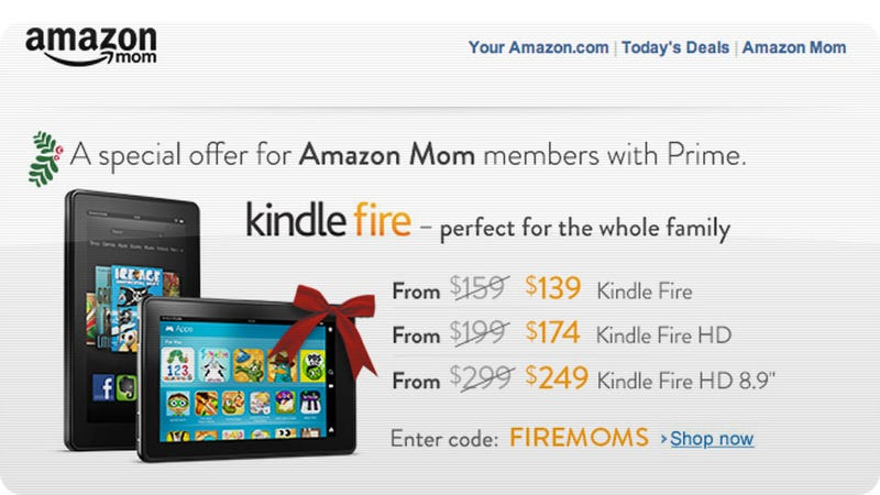 Illustration for article titled Every Kindle Fire Is on Sale Today—If You're a Mom