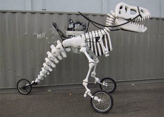 Illustration for article titled A Rideable T-Rex Skeleton Tricycle Is all my Jurassic Dreams Come True