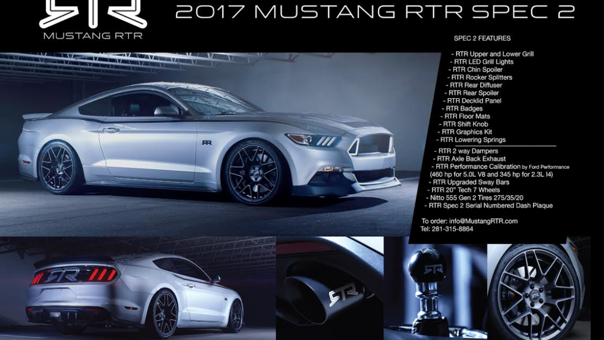 The 460 HP 2017 Ford Mustang RTR Is The Most Rational Way To Own A ...