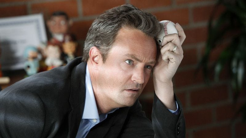 Illustration for article titled NBC is betting what you'll want after lots of Olympics coverage is a sad Matthew Perry