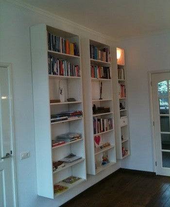 Float Ikea Bookcases For Maximum Shelf Space With Zero