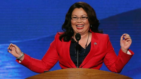 Tammy Duckworth Cast A Vote Today Newborn At Her Side