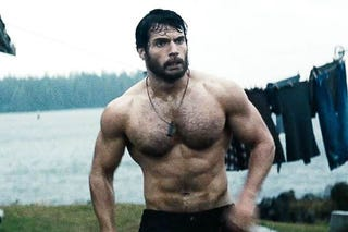 Illustration for article titled I am entranced by Henry Cavill's hairy chest.