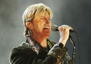 David Bowie performing onstage at Seaclose Park June 13, 2004, in Newport, WalesJo Hale/Getty Images