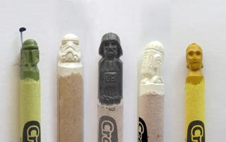 Illustration for article titled Your Favorite Characters, Carved Into Crayons