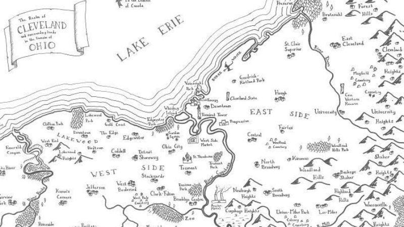 A fantasy map of Cleveland? Talk about the desolation of smog!