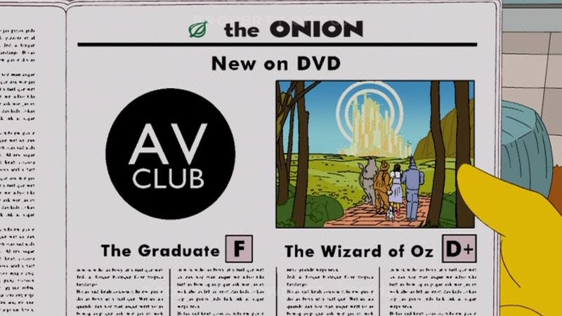Illustration for article titled UPDATE: The A.V. Club was on The Simpsons!