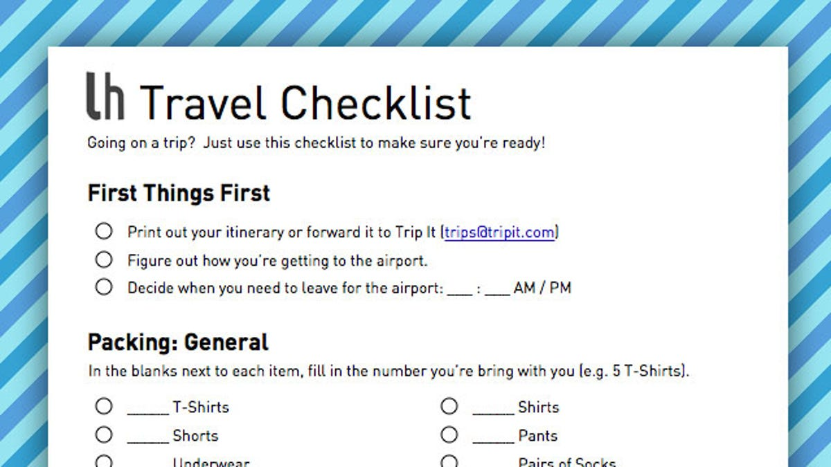 be prepared for your next trip by filling out this geek friendly