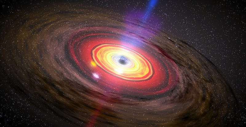 Illustration for article titled Hallan un agujero negro supermasivo que desafía las teorías sobre astrofísica