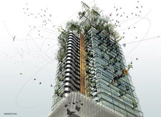 Illustration for article titled Tomorrow's Skyline Blends Glass And Concrete With A Liberal Helping Of Green