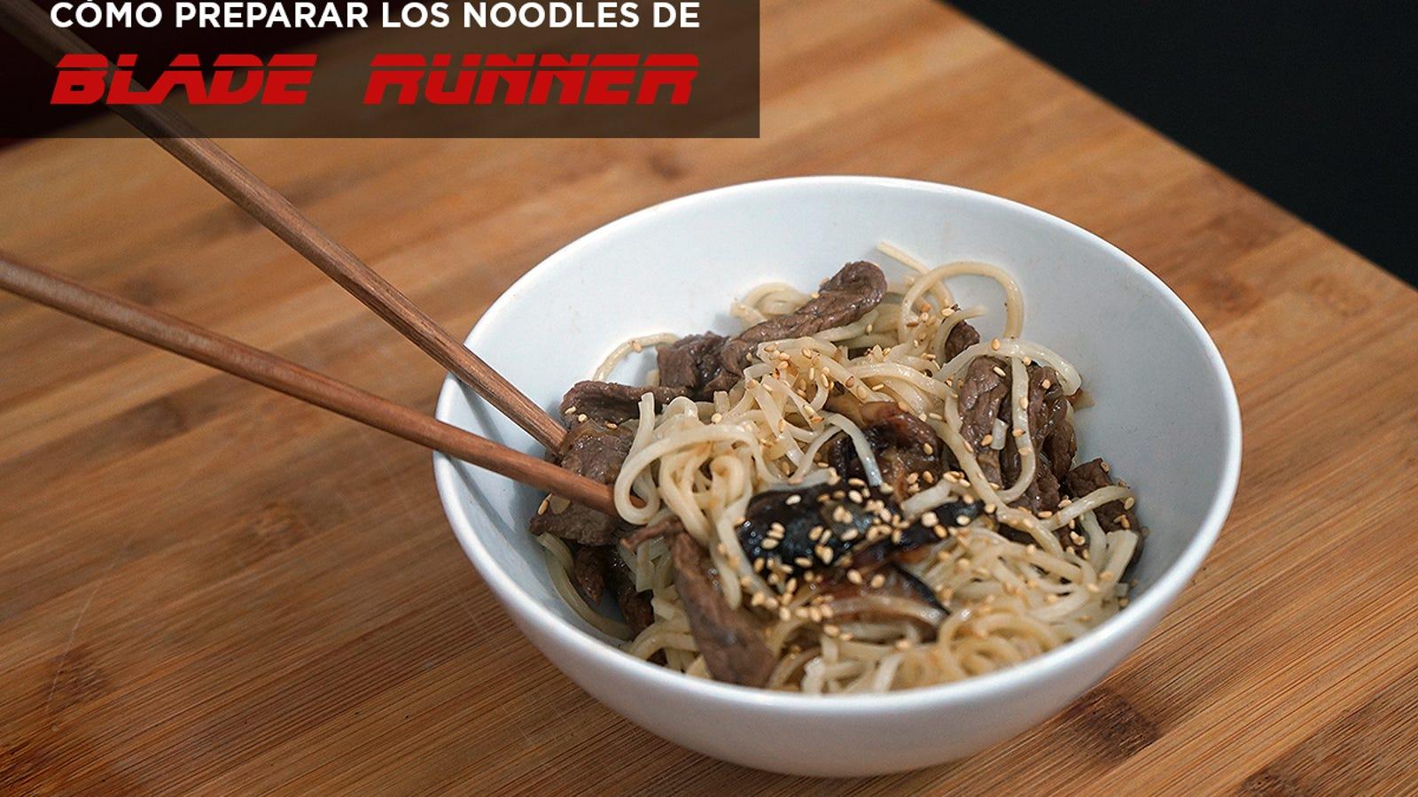 Cómo preparar los noodles con ternera y setas de Blade Runner