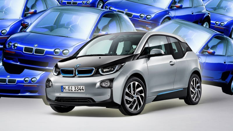 Illustration for article titled The BMW i3 Looks A Lot Like This Crazy Forgotten 90s Concept Car