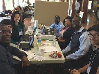 Students at the diversity hackathon at Huston-Tillotson University in Austin, TexasGenetta M. Adams/The Root