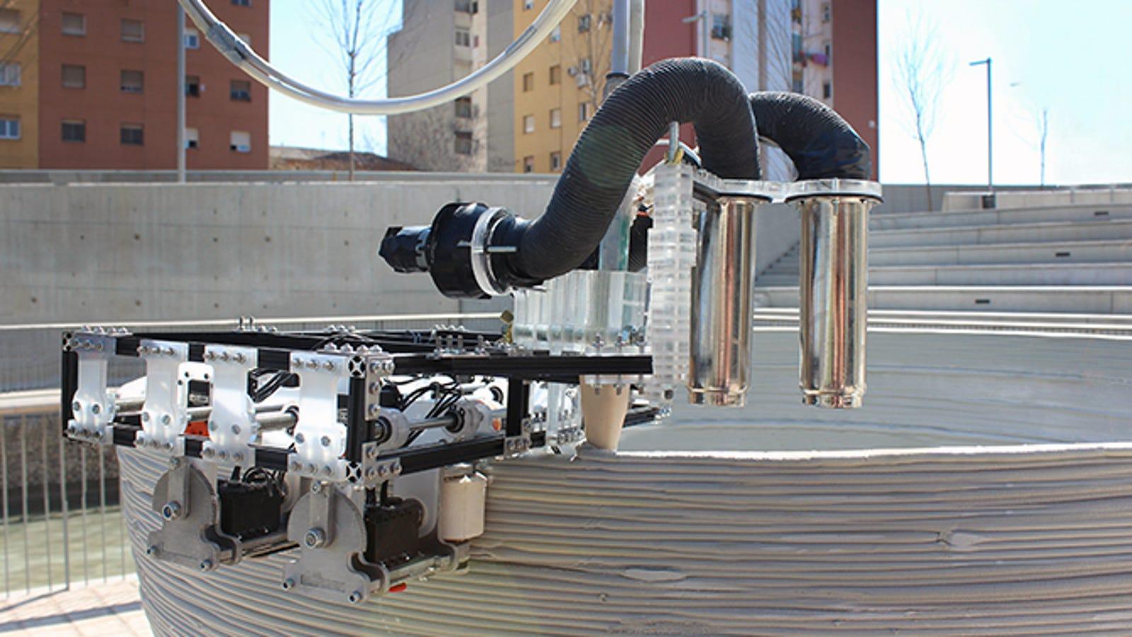 Un equipo de tres robots capaz de imprimir en 3D edificios enteros