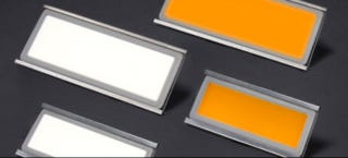 Illustration for article titled OLED Lighting Sheets Could Replace Bulbs and Halve Your Lighting Bill