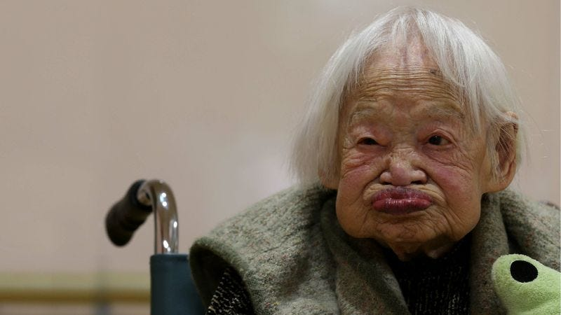 world s oldest woman just pleased every other human on earth when