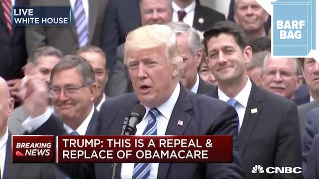 Donald Trump to a Beaming Paul Ryan:  I m President!