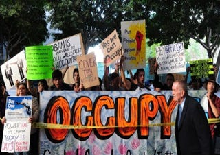 Occupy Wall Street protesters. (Getty Images)