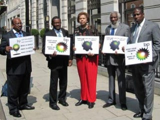 The Operation People for Peace delegation in London (the Voice)