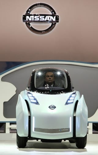 Carlos Ghosns Decapitated Head Invades Tokyo In Nissan Land Glider