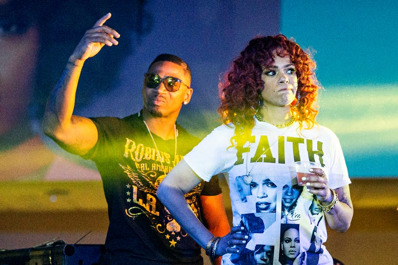 Stevie J and Faith Evans seen at the 2016 Essence Festival at the Mercedes-Benz Superdome on Friday, July 1, 2016, in New Orleans.