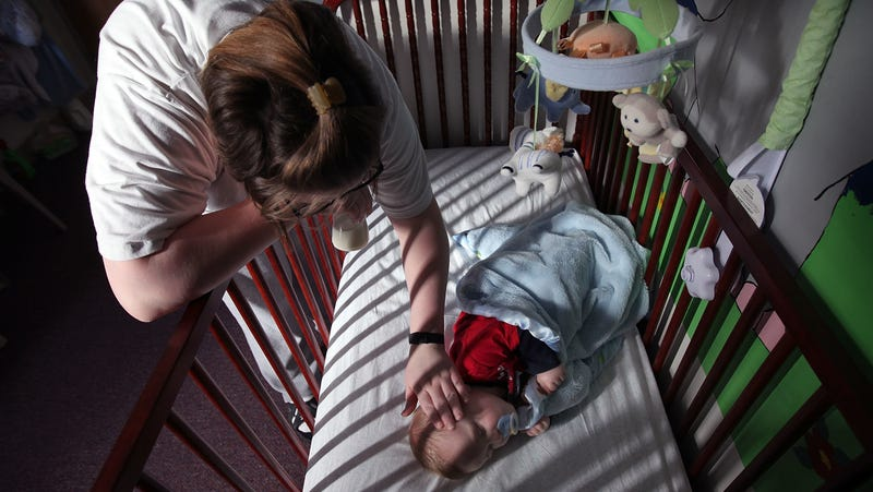 In an Illinois prison where mothers are allowed to raise their children behind bars