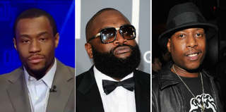 Marc Lamont Hill (YouTube); Rick Ross (Jason Merritt/Getty Images); Talib Kweli (Theo Wargo/Getty Images)