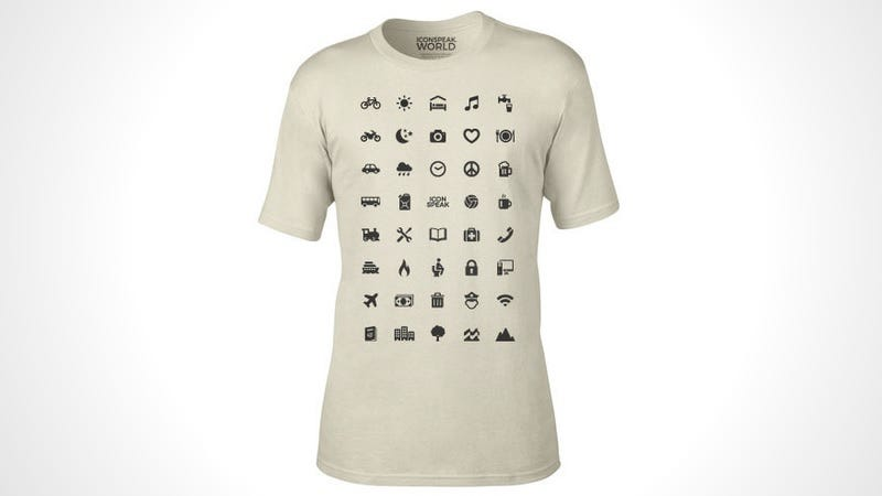 Illustration for article titled The ICONSPEAK T-Shirt Is the Perfect Apparel for Any World Traveler