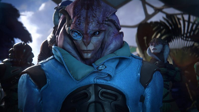 Illustration for article titled The Next Mass Effect Andromeda Patch Will Let Male Characters Romance Jaal